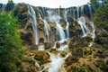 Large majestic waterfalls Royalty Free Stock Photo