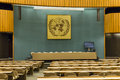 Large meeting chamber huge international of united nations in geneva switzerland http www unog ch Royalty Free Stock Photo