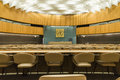 Large meeting chamber huge international of united nations in geneva switzerland http www unog ch Stock Photos