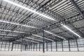 Large modern empty storehouse Stock Photography