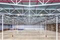 Large modern empty warehouse