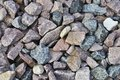 Large multi colored rocks. Royalty Free Stock Photo