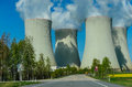 Large nuclear power plant Royalty Free Stock Photo