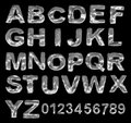 A large number of 3d Metal alphabet spelling art a Stock Photography