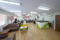 Large office with sofas for relaxation moscow dec and layout of buildings in ndv company on december in moscow russia Stock Photography