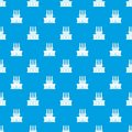 Large oil refinery pattern seamless blue