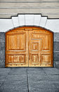 Large old wooden door Royalty Free Stock Photo