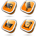 Large orange icons Stock Images