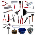 Large page of tools on white background Royalty Free Stock Photo