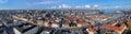 Large panorama of Copenhagen, Denmark Stock Images