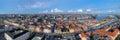 Large panorama of Copenhagen, Denmark Stock Image