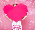 Large paper heart Stock Image