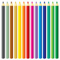 Large pencils set Stock Photo