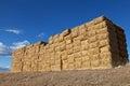 Large pile of hay bales Royalty Free Stock Photo