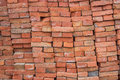 Large pile of red bricks background 2 Royalty Free Stock Photo