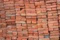 Large pile of red bricks background 2 Royalty Free Stock Photo