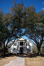 Large Plantation Style Mansion Stock Photos