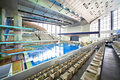 Large pool in sporting complex Stock Photos