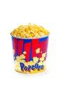 Large popcorn bucket Royalty Free Stock Image