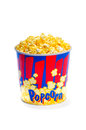 Large popcorn bucket Royalty Free Stock Photo