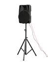 Large powerful Audio Speakers Isolated on White Background Royalty Free Stock Photo