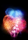 Large Professional Fireworks Display Royalty Free Stock Photo
