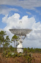 Large radar dish tracking spacecraft grand bahama island Stock Photo