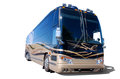 Large recreational vehicle RV  on white Stock Photo