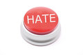 Large red HATE button Stock Photo