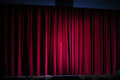 Large Red Stage Curtain Royalty Free Stock Photo