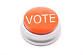 Large red VOTE button Stock Images