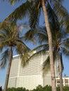 Large resort amidst tropical vegetation Stock Photo