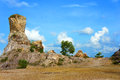 Large rock amazing shape wild beautiful landscape of ta pa lake nice destination for ecotourism at mekong delta travel vietnam in Stock Photography