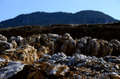 Large rocks at a quarry in the mountains Royalty Free Stock Photography