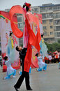 Large rod puppet show on lantern festival the sized puppets are used in the shows of northern sichuan that are popularly known as Stock Photo