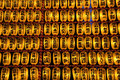 Large rows of Japanese lanterns during a festival Royalty Free Stock Image