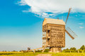 Large Russian wooden mill. Summer rural scene. Royalty Free Stock Photo