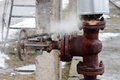 Large rusty valve is broken. Royalty Free Stock Photo