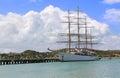 Large Sailing Ship in Antigua Barbuda Royalty Free Stock Photo