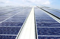 Large Scale Rooftop Solar PV System Royalty Free Stock Photo