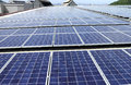 Large Scale Solar PV Rooftop System Royalty Free Stock Photo