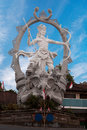 Large sculpture in ubud indonesia bali a at the crossroads Royalty Free Stock Photography