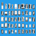Large set of different abstract mobile phones part 1/2 Royalty Free Stock Photo