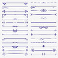 Large set of dividers. Vector calligraphic design elements and page decoration