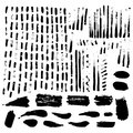 Large set of ink textures. Brush strokes - grunge background. Tr