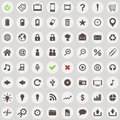 Large set of retro style web icons vector Stock Photos