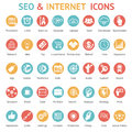Large set of SEO and internet icons Royalty Free Stock Photo