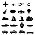Large set of transportation icons vector modern illustration Royalty Free Stock Photography