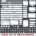 Large set of web design elements Stock Photos