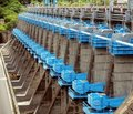 Large Sluice Gates at a Dam Royalty Free Stock Photo